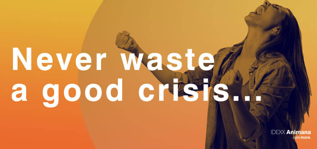 Never waste a good crisis…