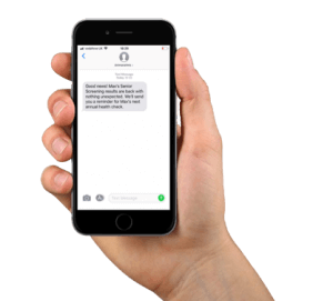 Automated reminder- hand with mobile